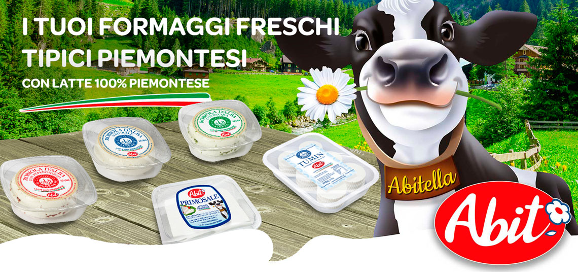 New range of Abit fresh cheeses with 100% milk of the Piedmont region